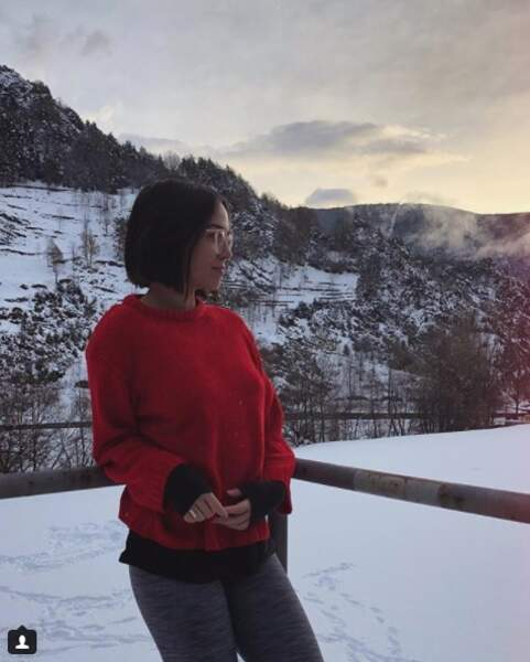 Agathe Auproux a choisi la montagne. La jeune femme est partie en Andorre