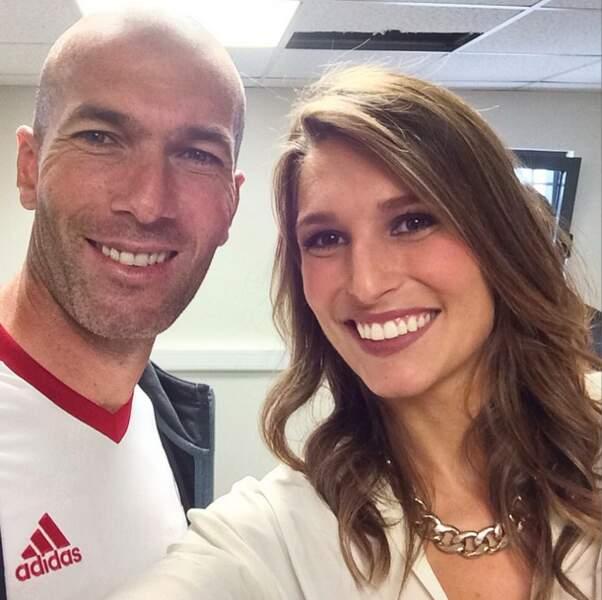 On continue avec Laury Thilleman et Zinédine Zidane