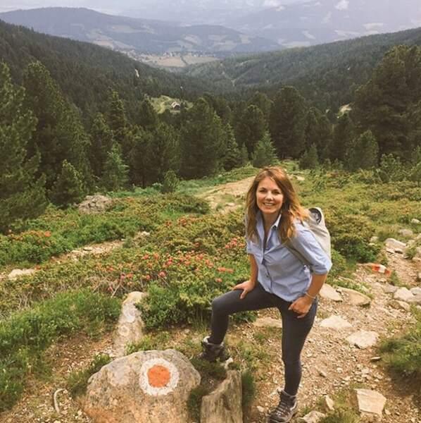 Geri Halliwell, ex-Spice Girls, a fait de la rando en Autriche.