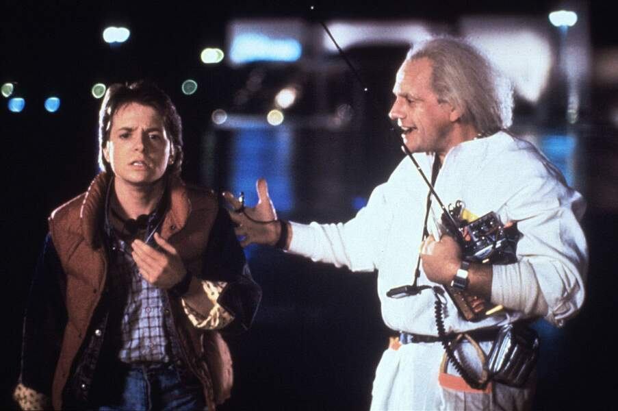 En 1985 sort Retour vers le futur de Robert Zemeckis. En tête d'affiche, le jeune Michael J Fox (ici à gauche)