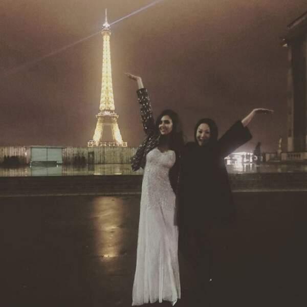 Elle affectionne particulièrement Paris et on la comprend (trop de beautés sur une même image !)