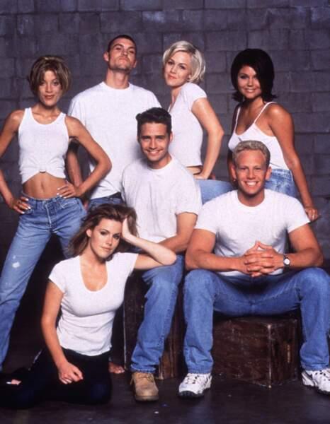 Tout le cast lors de la saison 7 de Beverly Hills