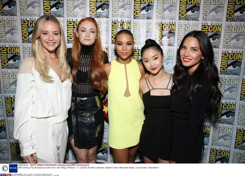 Jennifer Lawrence, Sophie Turner, Olivia Munn... Elles ont la classe les filles !