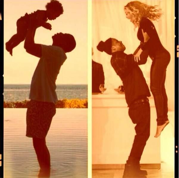 Pendant ce temps, l'amour est au beau fixe chez Beyoncé et Jay-Z et leur fille Blue Ivy