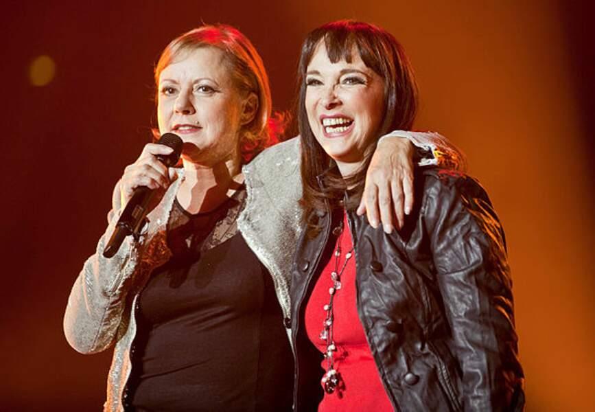En 2010, elle avait accompagné Dorothée sur scène à Bercy