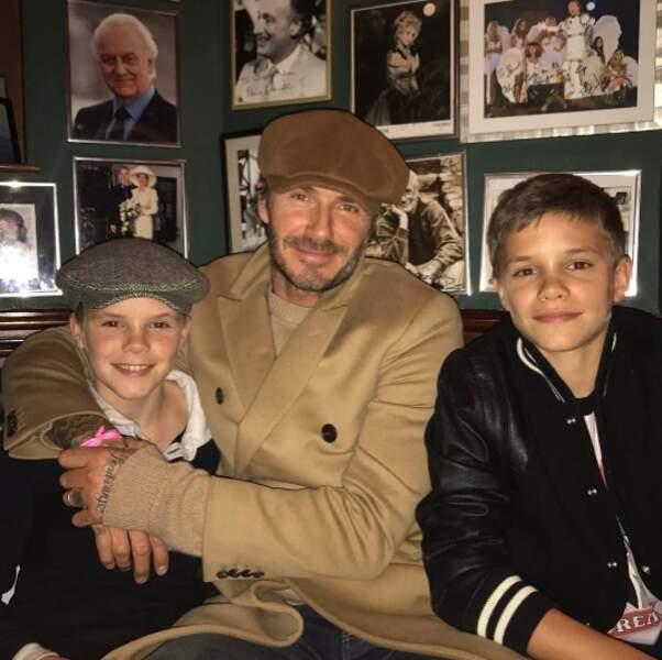 Si, si la famille : trois Beckham pour le prix d'un.
