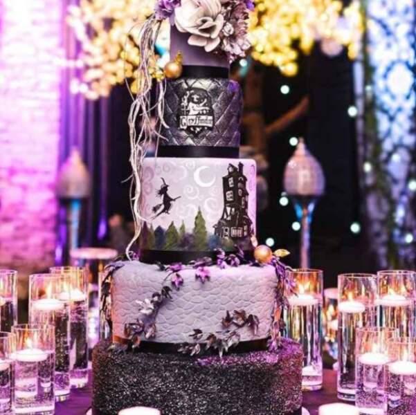 Un gâteau pour des mariés de la maison Gryffondor !