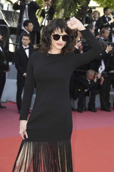 Asia Argento à la côture du Festival de Cannes