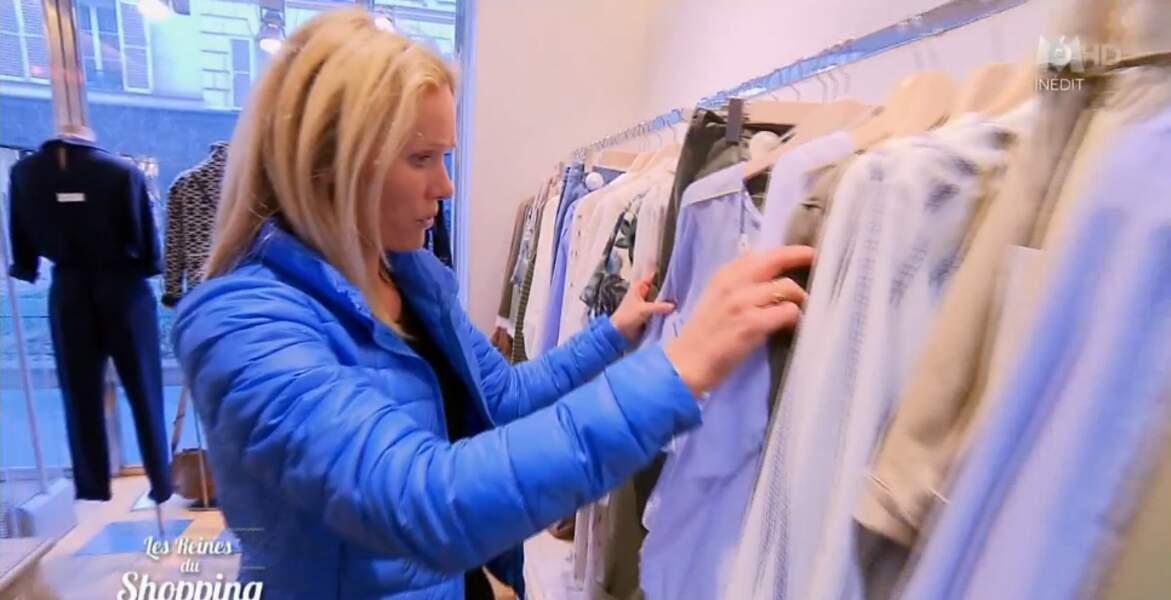 Alerte doudoune bleue dans Les reines du shopping