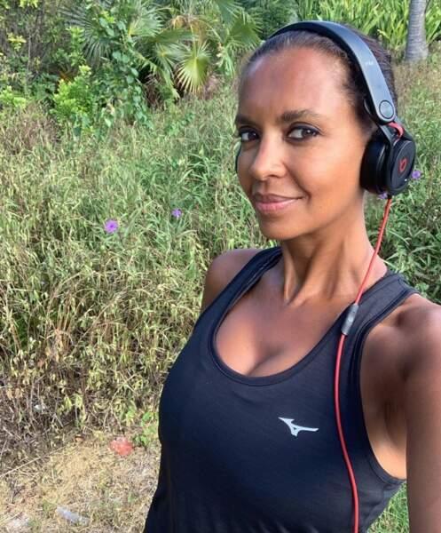 Karine Le Marchand a fait un jogging au lieu de faire la grasse matinée.