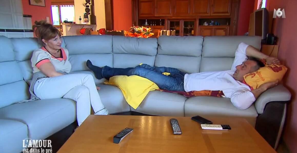 C'est l'heure du repos pour Carine et Bruno