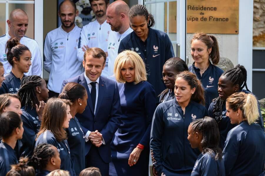 Les joueuses ont semblé impressionnées par le couple présidentiel