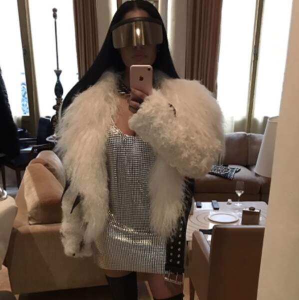 ... et que dire de cette tenue arborée par Nicki Minaj pour le show de Rick Owens.