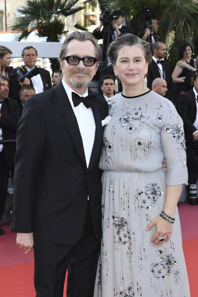 Gary Oldman et Gisele Schmidt à la côture du Festival de Cannes