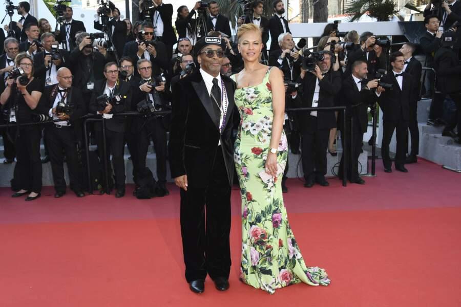Spike Lee et Tonya Lewis à la côture du Festival de Cannes