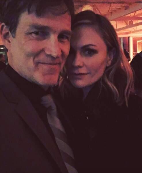 En couple à la ville comme à l'écran : Anna Paquin et Stephen Moyer, stars de la série True Blood.