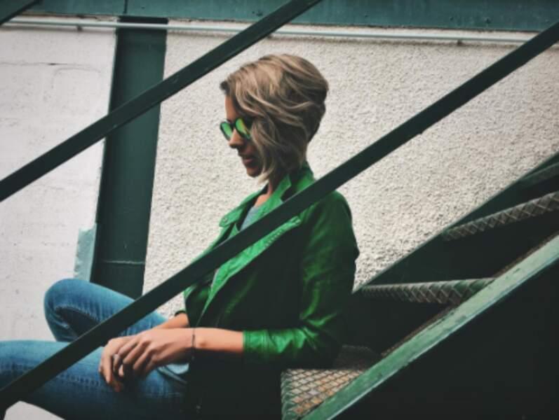 Shy'm voit la vie en vert.