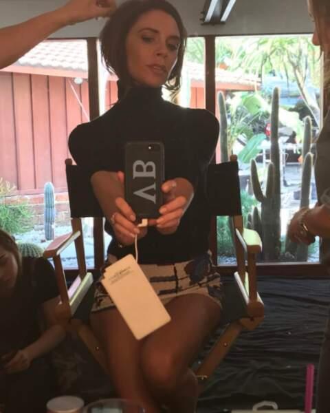 On a failli voir la culotte de Victoria Beckham.