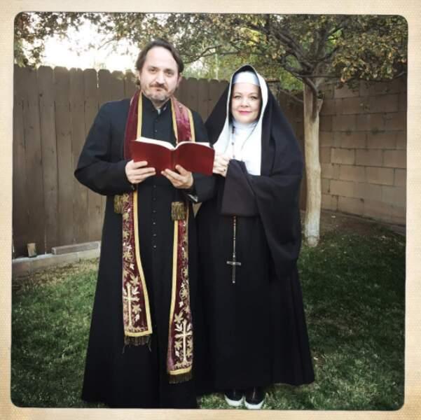 """Tous les deux grimés pour Halloween en 2015... """"god bless you"""" !"""