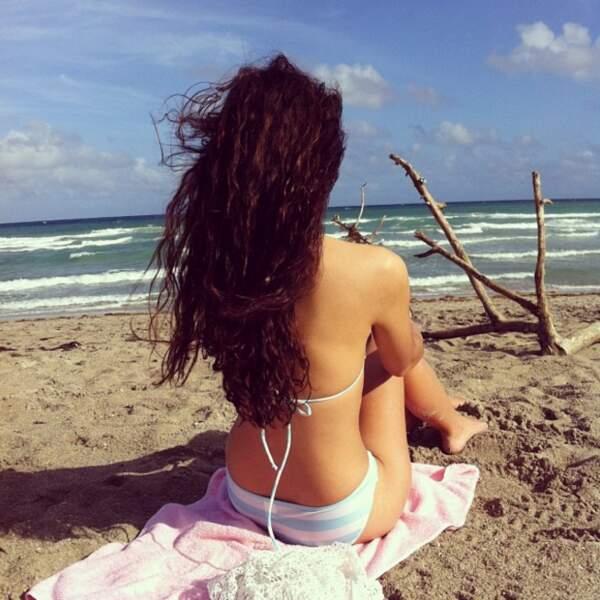 ... mais c'est la plage qu'elle préfère !