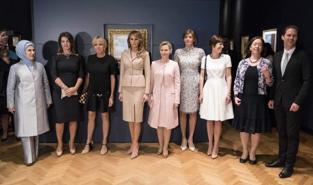 Toute la délégation des Premières dames (et du Premier homme) ont visité le musée Magritte de Bruxelles
