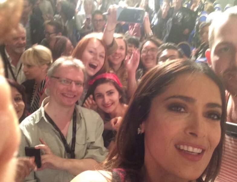 Hop, en mai dernier à Cannes ! Selfie avec le public