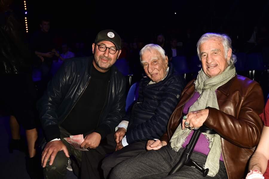 Comme tout le monde, il a voulu poser avec Jean-Paul Belmondo