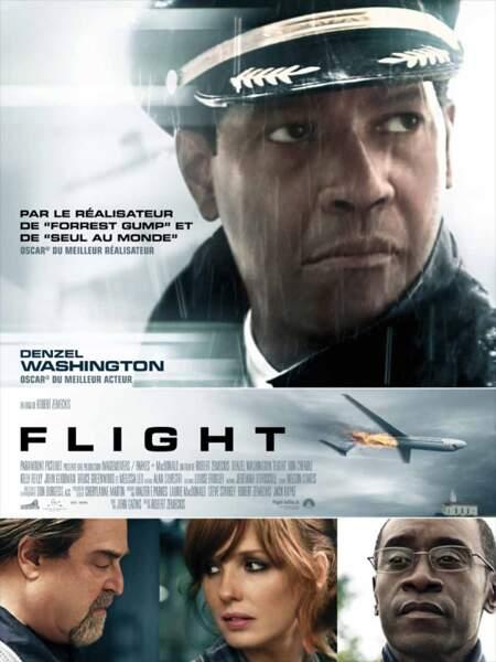Flight (2012), la destiné d'un commandant de bord qui sauve la majorité de ses passagers mais devient accusé