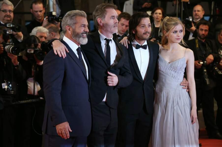 Et celle de Blood Father : Mel Gibson, le réalisateur Jean-François Richet, Diego Luna et Erin Moriarty