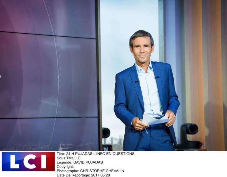 """En 2018, retour aux sources avec son émission """"24h Pujadas, l'info en questions""""sur LCI"""