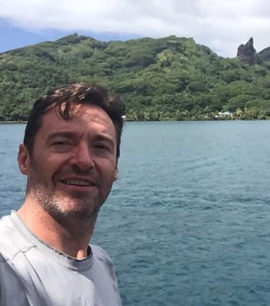 Pendant ce temps-là, Hugh Jackman découvrait Tahiti.