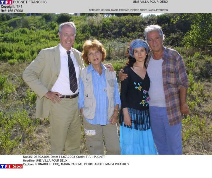 """Elle avait retrouvé les deux acteurs en 2003 dans """"Une villa pour deux"""", toujours sur TF1"""