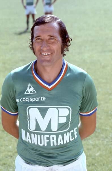 Hervé Revelli, avant-centre et meilleur buteur de l'histoire des Verts...