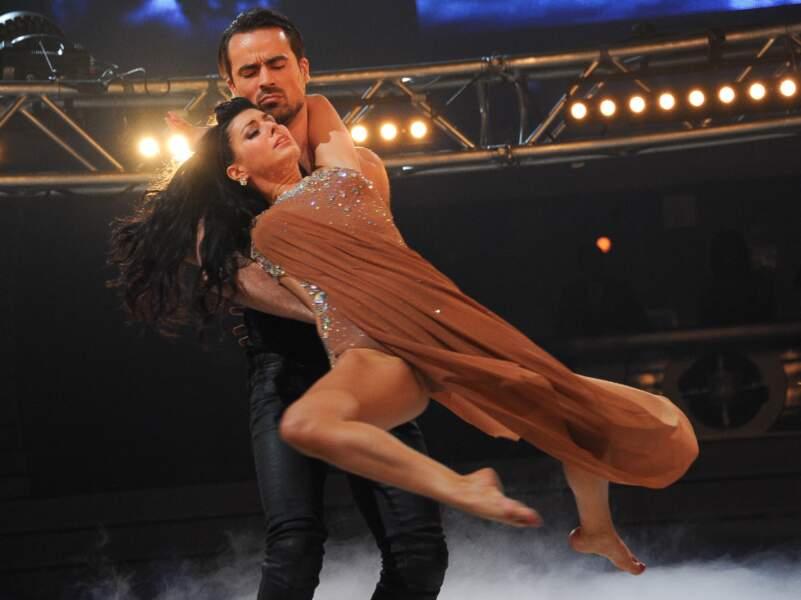 Damien Sargue et Candice Pascal à la première de la tournée Danse avec les stars à Bercy