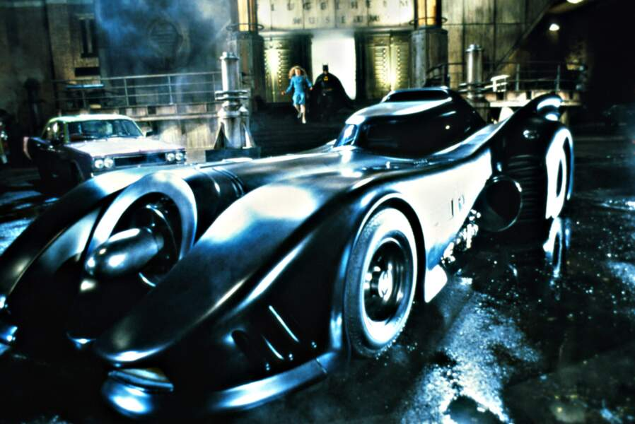 La batmobile dans le Batman de Tim Burton