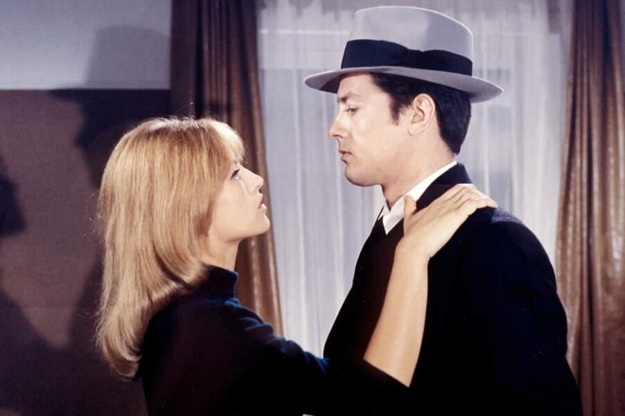 """Elle devient alors comédienne avec son mari dans """"Le samouraï"""" en 1967"""