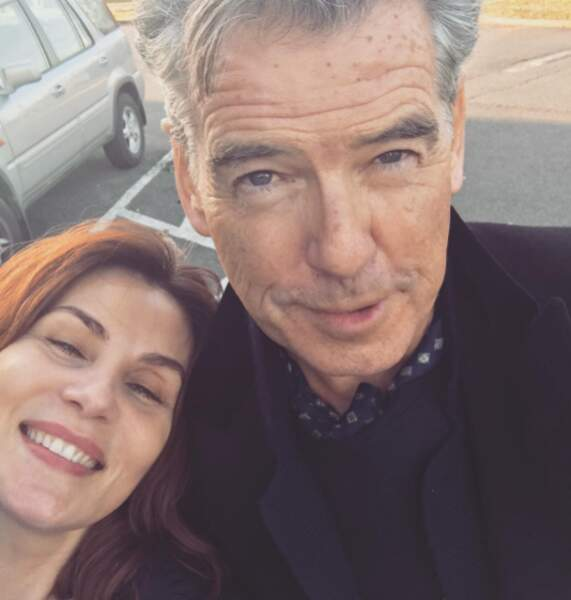"""Rien à voir mais cette chanceuse d'Emmanuelle Seigner a rencontré Pierre """"James Bond"""" Brosnan."""