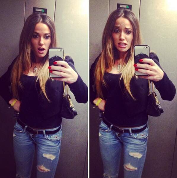 Elle se prend en photo partout... même dans un ascenseur !