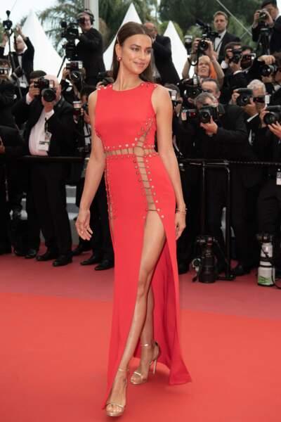 La robe rouge d'Irina Shayk a marqué les esprits
