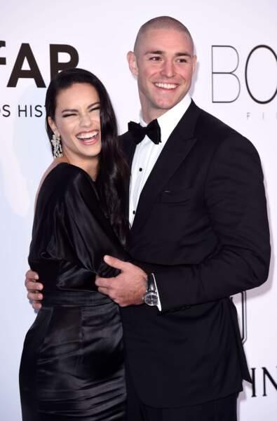 La top-model Adriana Lima et Joe Thomas, en couple depuis 2015.