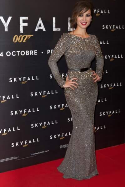 Bérénice Marlohe avait opté pour une robe aux reflets argentés