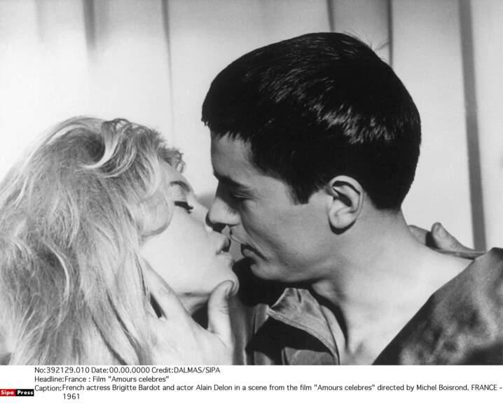 """Avec Brigitte Bardot c'est une longue amitié, promis ! Ici dans """"Amours célèbres"""" en 1961"""