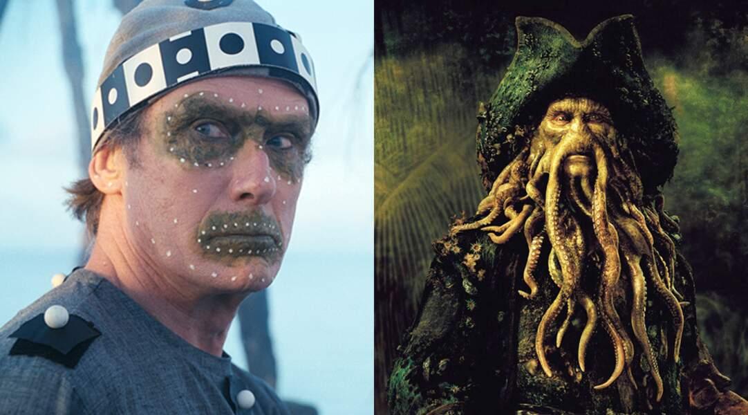 Bill Nighy sur le tournage de Pirates des caraïbes : le secret du coffre maudit (2006)