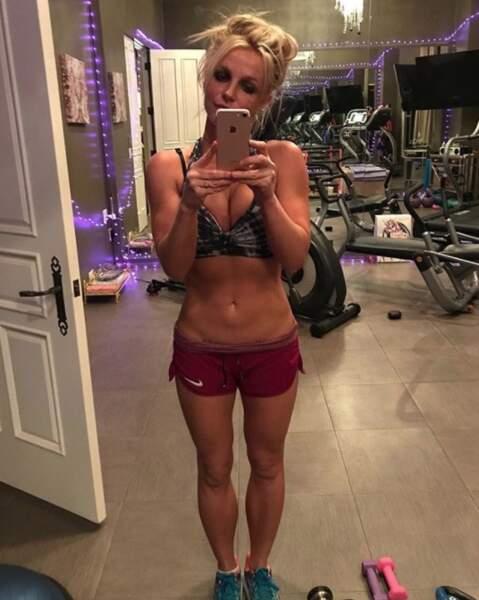 Ou encore Britney Spears en (toute petite) tenue de sport !