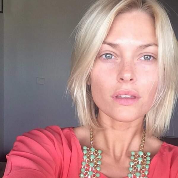 Caroline Receveur, makeup free. On aimerait avoir le même résultat le matin, nous aussi.