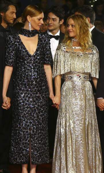 Kate Moran et Vanessa Paradis, complices sur le tapis rouge