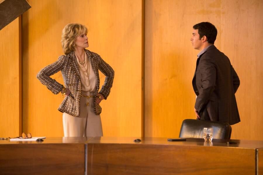Il n'y a pas que le ciné, il y a aussi les séries… De 2012 à 2014, elle joue dans The Newsroom de Aaron Sorkin