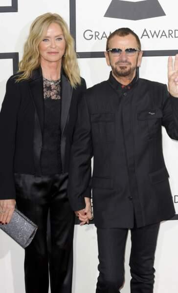 Ringo Starr, le mythique batteur des Beatles, et sa compagne Barbara Bach