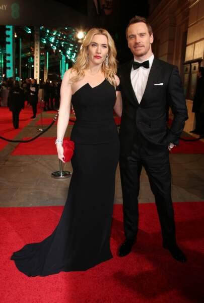 Et Kate Winslet s'est incrustée auprès de Michael Fassbender (ils ont joué ensemble dans le film Steve Jobs)