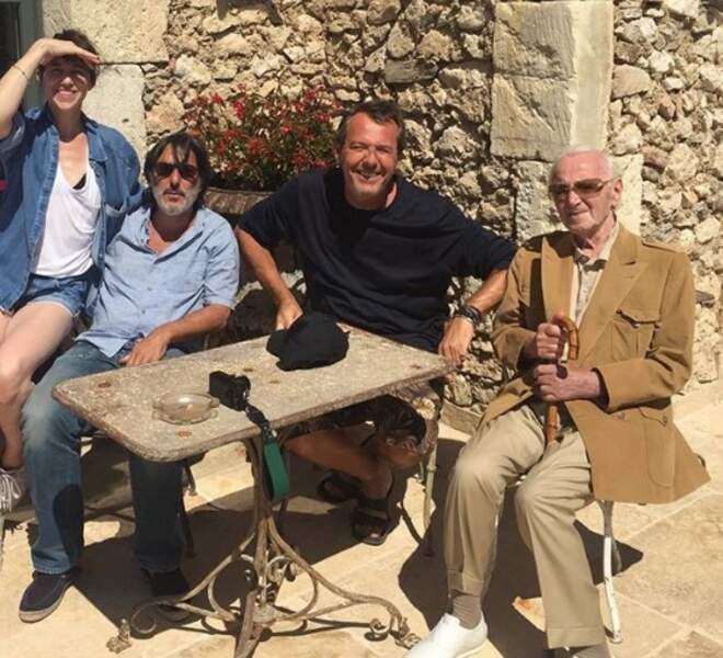 Pendant ce temps-là, Jean-Luc Reichman passait ses vacances avec Attal, Gainsbourg et Aznavour.
